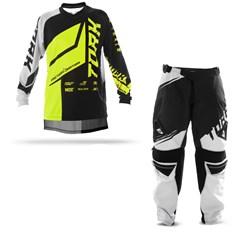 Kit Equipamento Motocross Calça e Camisa Pro Tork Factory Edition Neon