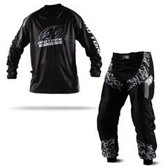 Calça e Camisa Motocross Pro Tork Insane in Black
