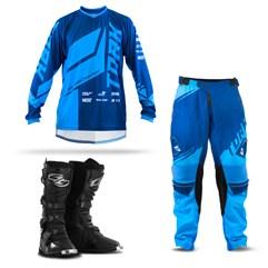 Kit Equipamento Motocross Pro Tork Factory Edition - 3 Itens