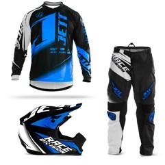 Kit Motocross Jett Factory Edition - 3 Itens