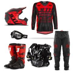 Kit Equipamento Motocross Jett Evolution - 6 Itens