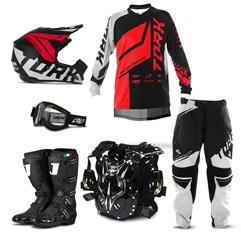 Kit Equipamento Motocross Pro Tork Factory Edition Neon - 6 Itens