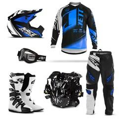 Kit Motocross Jett Factory Edition - 6 Itens