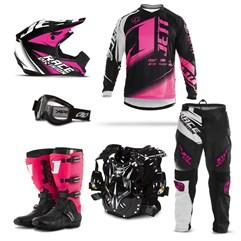 Kit Equipamento Motocross Jett Factory Edition - 6 Itens