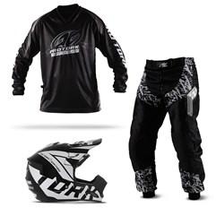 Kit Equipamento Motocross Pro Tork Insane In Black - 3 Itens