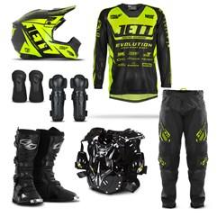 Kit Equipamento Motocross Jett Evolution - 7 Itens