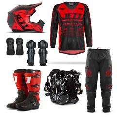 Equipamento Motocross Jett Evolution - 7 Itens