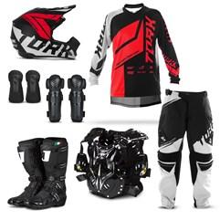 Kit Equipamento Motocross Pro Tork Factory Edition Neon - 7 Itens