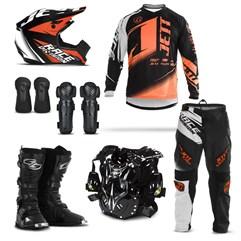 Kit Motocross Jett Factory Edition - 7 Itens