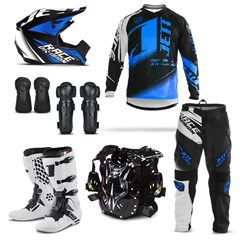 Kit Equipamento Motocross Jett Factory Edition  - 7 Itens