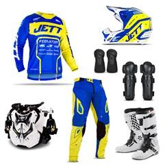 Kit Equipamento Motocross Jett Evolution 2 - 7 Itens