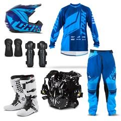 Kit Equipamento Motocross Pro Tork Factory Edition - 7 Itens
