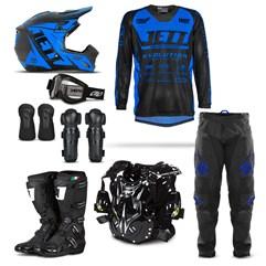 Kit Equipamento Motocross Jett Evolution - 8 Itens