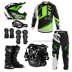 Kit Motocross Jett Factory Edition - 8 Itens