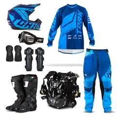 Kit Equipamento Motocross Pro Tork Factory Edition - 8 Itens