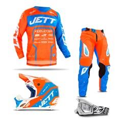 Kit Motocross Jett Evoltuion 2 - 4 Itens