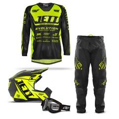 Kit Equipamento Motocross Jett Evoltuion - 4 Itens