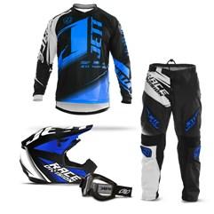 Kit Equipamento Motocross Jett Factory Edition - 4 Itens