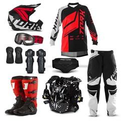 Kit Equipamento Motocross Pro Tork Factory Edition Neon - 9 Itens