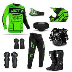 Equipamento Motocross Jett Evolution 2 - 9 Itens