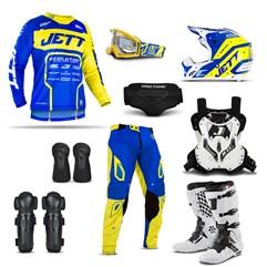 Kit Equipamento de Motocross Jett Evolution 2 - 9 Itens
