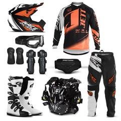 Kit Motocross Jett Factory Edition - 9 Itens