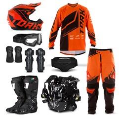 Kit Equipamento Motocross Pro Tork Factory Edition - 9 Itens