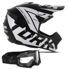 Capacete Motocross Pro Tork Factory Edition + Óculos Blast
