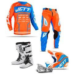Kit Equipamento Motocross Jett Evolution 2 - 5 Itens