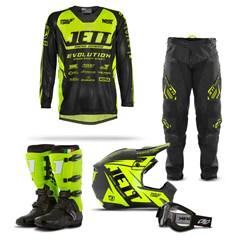 Kit Equipamento Motocross Jett Evolution - 5 Itens