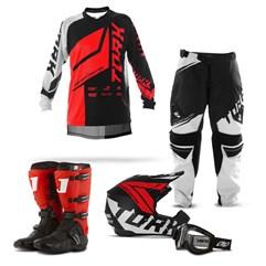 Kit Equipamento Motocross Pro Tork Factory Edition Neon - 5 Itens