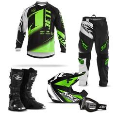 Kit Motocross Jett Factory Edition - 5 Itens