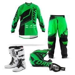 Kit Equipamento Motocross Pro Tork Factory Edition - 5 Itens