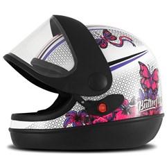 Capacete Feminino Super Sport Moto Butterfly