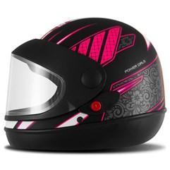 Capacete Feminino Super Sport Moto Power Girls Fosco