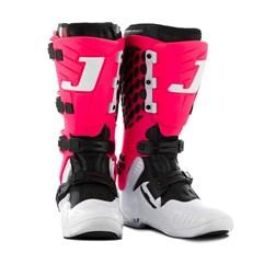 Bota Feminina Motocross Jett Lite Branco/Rosa