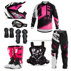 Kit Equipamento Motocross Jett Factory Edition 8 Itens