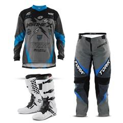 Kit Equipamento Motocross Pro Tork Insane X - 3 Itens