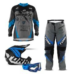 Kit Motocross Pro Tork Insane X - 4 Itens