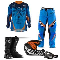 Kit Equipamento Motocross Pro Tork Insane X - 5 Itens
