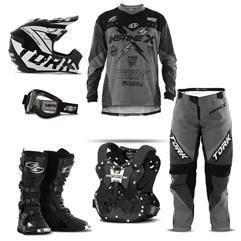 Kit Equipamento Motocross Pro Tork Insane X - 6 Itens