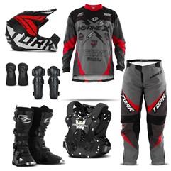 Kit Equipamento Motocross Pro Tork Insane X - 7 Itens