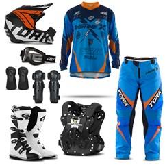 Kit Equipamento Motocross Pro Tork Insane X - 8 Itens