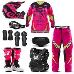 Kit Equipamento Motocross Pro Tork Insane X - 9 Itens