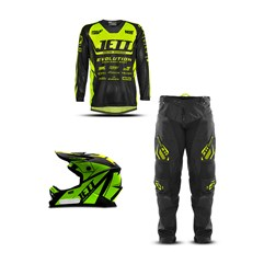 Kit Equipamento Motocross Infantil Jett Evolution