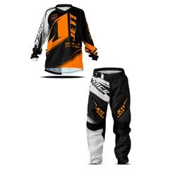 Kit Equipamento Motocross Camisa e Calça Infantil Jett Factory Edition