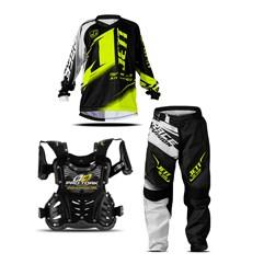 Kit Equipamento Motocross Infantil Jett Factory Edition