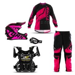 Kit Equipamento Motocross Infantil Pro Tork Factory Edition