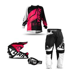Kit Equipamento Motocross Infantil Pro Tork Factory Edition Neon