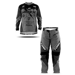 Kit Equipamento Motocross Camisa E Calça Infantil Pro Tork Insane X